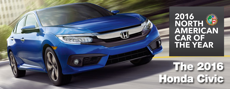 The All-New Honda Civic. 2016 North American Car of the Year!
