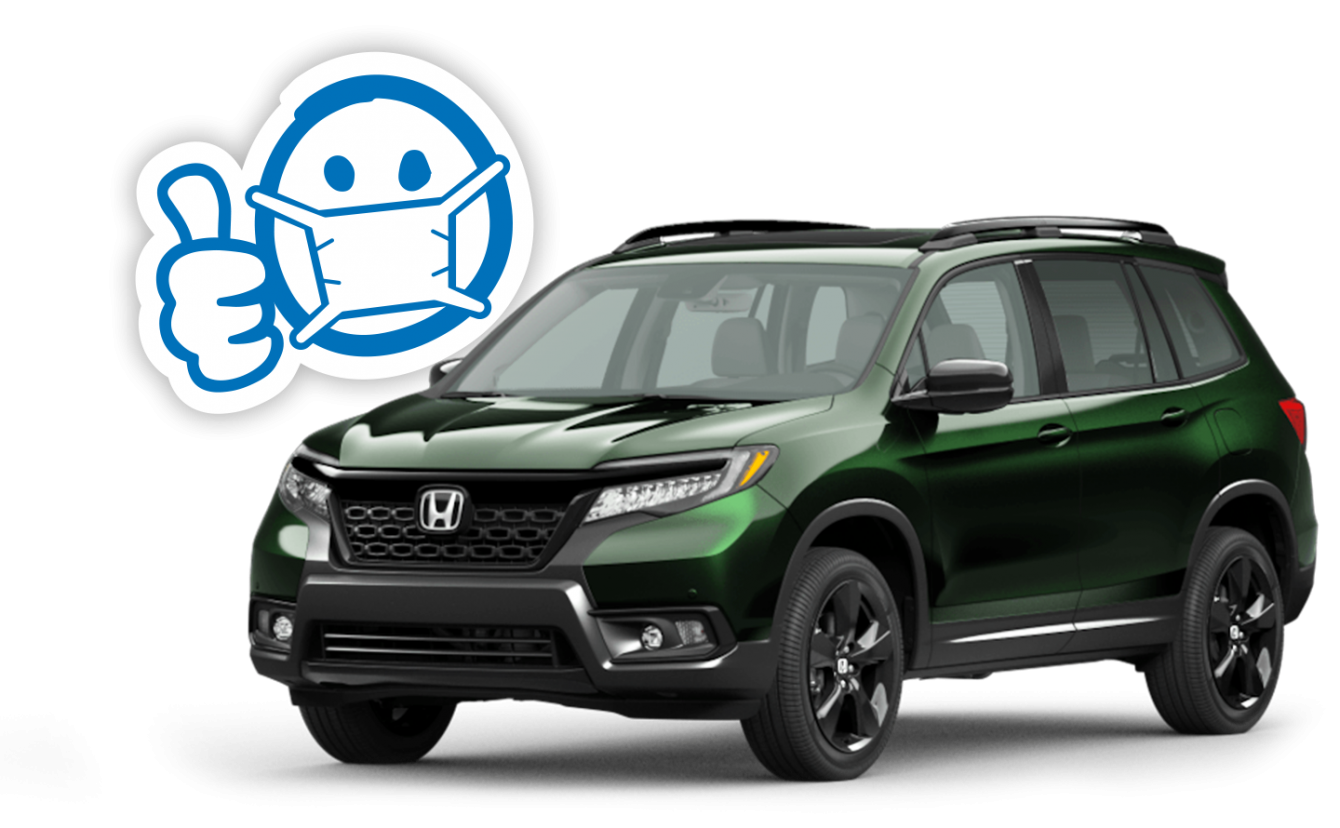 2020 Honda Passport and Thumbs Up Smiley